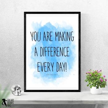 Teacher Watercolor Quote Posters for your office or the teacher's lounge