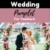 Teacher Wedding Pamphlet
