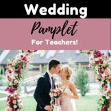 Teacher Wedding Pamphlet