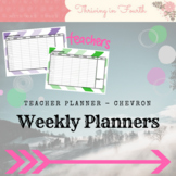 Teacher Weekly Lesson Overview Planner Chevron