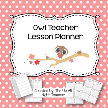 Teacher Weekly Lesson Planner - Cute Owls