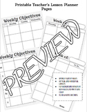 Teacher Weekly Printable Lesson Planner