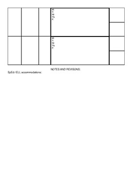 Teacher Weekly Lesson plan template w/ example Distance Learning