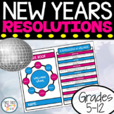 New Years Resolutions Template Bundle - Differentiated Goal Setting Printables