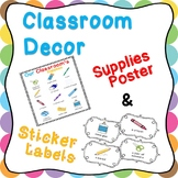 Teacher, What is this? - Common Classroom Supplies Poster