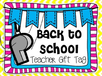 Teacher Whistle Gift Tag
