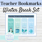 Teacher Winter Break Bookmarks