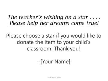 Teacher Wish List - Supply Donation Labels - Dr. Seuss Tribute Colors