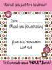 Teacher Wish List for Back To School -Donut Theme
