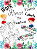 Teacher Work Request Form and Labels for Aids and Substitu