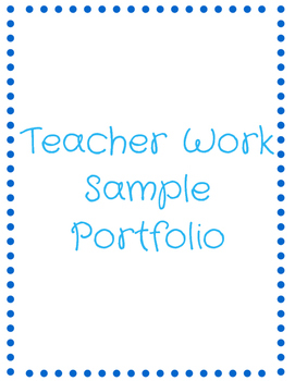 Teacher Work Sample Portfolio
