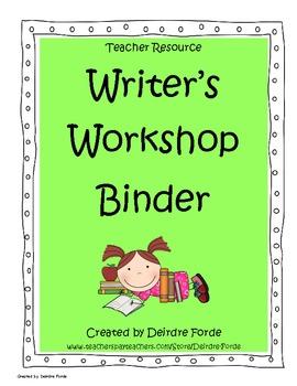 Teacher Writing Binder