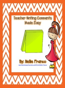 Teacher Writing Comments Made Easy