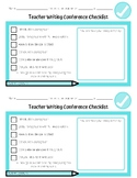 Teacher Writing Conference Checklist - FREEBIE