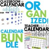 Teacher and Classroom Calendar Bundle in Watercolor ~ both