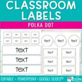 Editable Classroom Organization Labels | Polka Dots