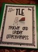 TLE Teacher and Leader Effectiveness (Teacher Evaluation Tool)
