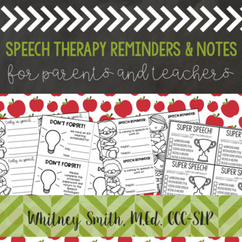 Teacher and Parent Speech Notes Freebie