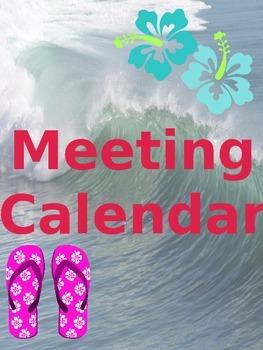 Teacher and Planning Binder BUNDLE (EDITABLE) Surf/Flip Flop/Beach Theme