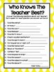 Teacher and Principal Icebreaker Question Game