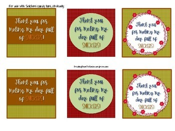 Teacher and Staff Appreciation Gift Tags {Thanksgiving Version}