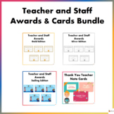 Teacher and Staff Awards and Cards Bundle