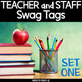 Teacher and Staff Brag Tags - SET ONE - Boost Faculty Morale!