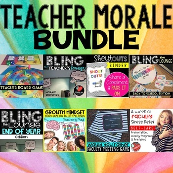 Teacher and Staff Morale Biggest Bundle