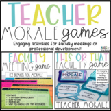 Teacher and Staff Morale Booster Games for Professional Development Bundle