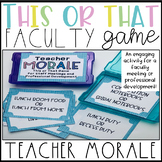 Teacher and Staff Morale Game for Faculty Meetings or Professional Development