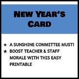 Teacher and Staff New Year's Card