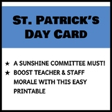 Teacher and Staff St. Patrick's Day Card