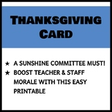 Teacher and Staff Thanksgiving Card 1