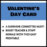Teacher and Staff Valentine's Day Card