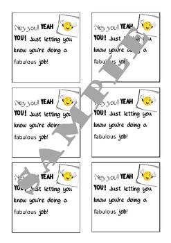 Teacher and Student Appreciation Notes (AUS)