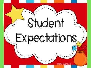 Teacher and Student Behavior Expectation Posters