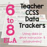Teacher and Student Data Trackers 6-8 ELA