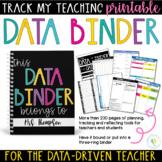 Teacher and Student Data Tracking Binder Printable