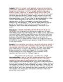 Teacher and Student Templates for Outlining Psychology Studies