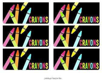 Teacher and Student Toolbox Labels Bundle (Consistent Colors)