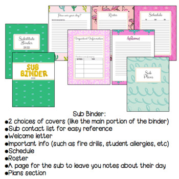 Teacher and Substitute Planner and Binder - Classy Vacay Style