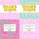 Teacher Binder and Substitute Planner - Classy Vacation Style