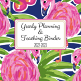 Teacher Binder and Substitute Planner - Ultimate Preppy Tropical