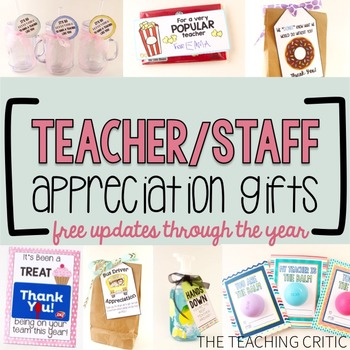 Teacher and Teammate Appreciation Gifts
