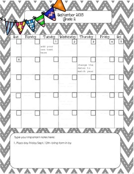 Teacher and classroom planner and calendar