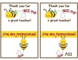 Teacher appreciation gift - tag for Burt's Bees chapstick
