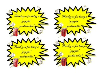 graphic about Popcorn Teacher Appreciation Printable identified as Trainer Appreciation Popcorn Worksheets Schooling Components