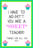 Teacher appreciation tag