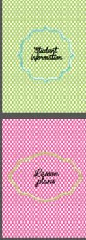 Polka dots binder dividers NON EDITABLE