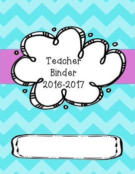 Teacher binder cover (chevron)
